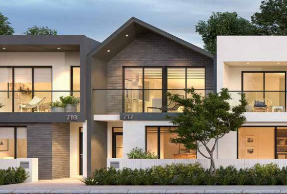 Terrace House & Land Render