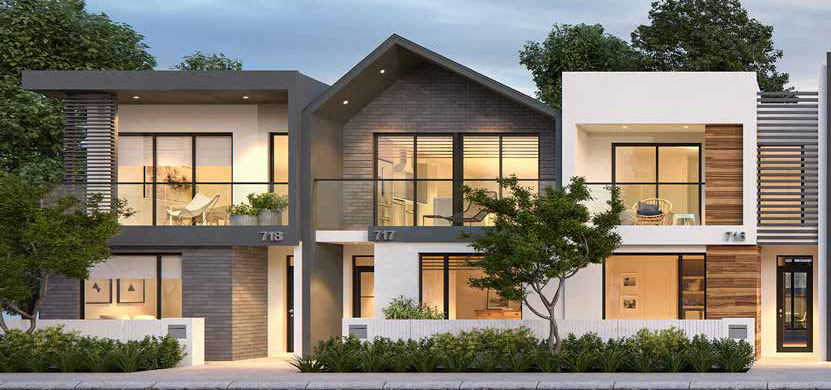 Terrace House & Land Render